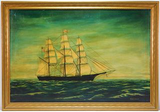 Miriam R Wilharm Maritime Folk Art Painting