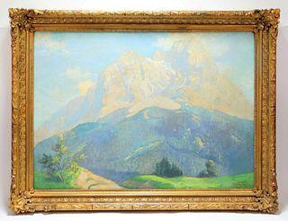 Janos Kisgyorgy Matterhorn Alps Landscape Painting