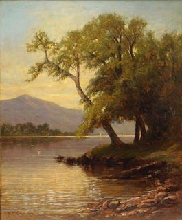 Nikolay Leganger O/C Lake George Sunset Painting