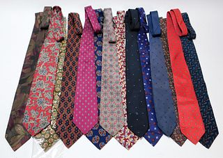 14PC Christian Dior Assorted Necktie Group