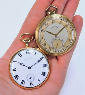 2PC 14K Gold Howard & Lord Elgin Pocket Watches