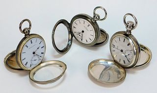3 Waltham Watch Co. Assorted Pocket Watches