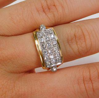 Estate 14K Gold Diamond Men's Ring