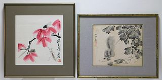 2PC Japanese Squirrel & Insect Woodblock Prints