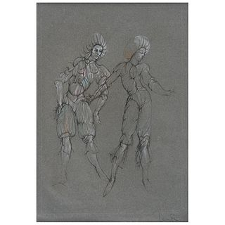 Leonor Fini. Sin título. Técnica mixta. Serie 37 / 116. Firmado. Enmarcado.