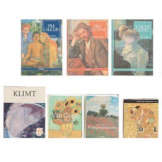 LIBROS SOBRE IMPRESIONISMO Y POSTIMPRESIONISMO. a) Van Gogh. La Obra Completa. Pintura. b) Gustav Klimt. Piezas: 7.