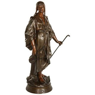 Emile-Louis Picault, A French Orientalist Bronze Figure of Queen Esther, C. 1870