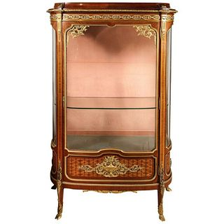 Francois Linke, an Exceptional French Ormolu-Mounted Kingwood Vitrine Cabinet