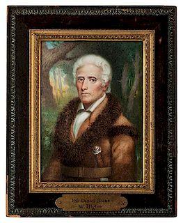 Miniature Portrait of Daniel Boone by W. Higbee
