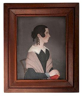 Ohio Portrait of Cynthia Hine by Itinerant Artist Jasper Miles (1782-1849)