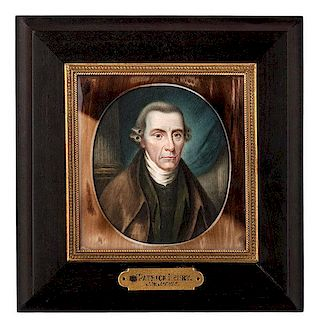 Miniature of Patrick Henry by John Wesley Jarvis