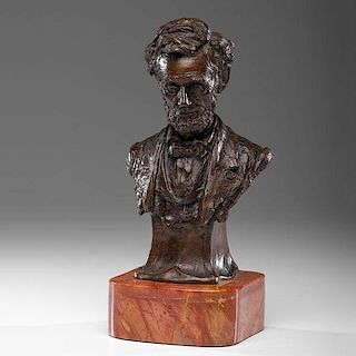 Bronze Bust of Lincoln by Leo F. Nock