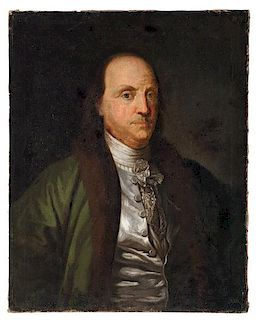 18th Century Portrait of Benjamin Franklin