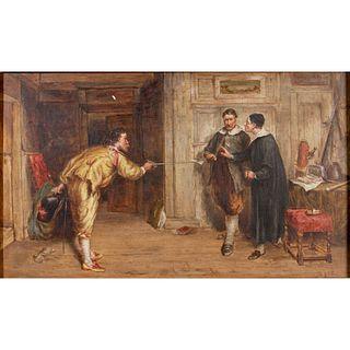 John D Watson Oil On Wood, Untitled, Framed