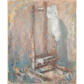 Alexandre Zlotnik, Shirt and Structure Framed Oil on Canvas