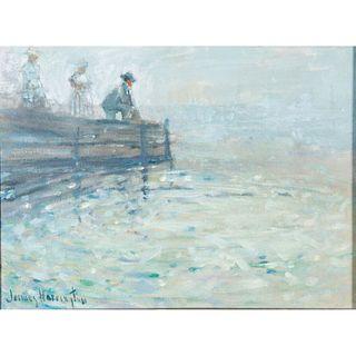 James Harrington (b. 1929), Framed Oil on Canvas, Untitled
