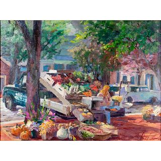 John S Caggiano Oil Painting, Fresh From The Farm