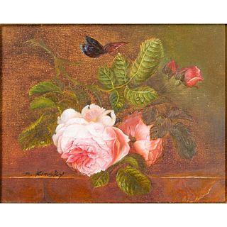 N. Kinsky, Framed Oil on Canvas, Untitled