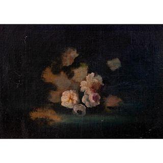 Framed Floral Still Life, Oil on Board, Untitled