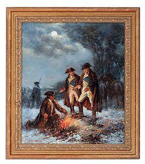 Washington at Valley Forge by Edward Percy Moran