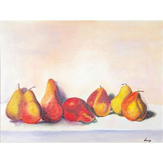 Linny Oil Painting, Pears, Framed