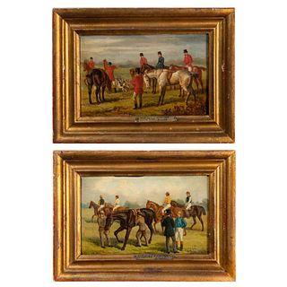 2 Framed H. Alkins, Oil on Board, English School