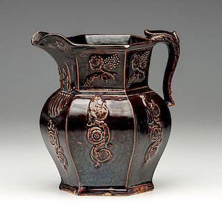 Bennington Pottery Paneled Pitcher