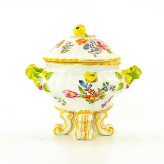 Meissen Floral Claw Footed Bowl with Cover