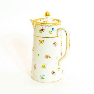 Vintage Dresden Porcelain Pitcher, Floral Design