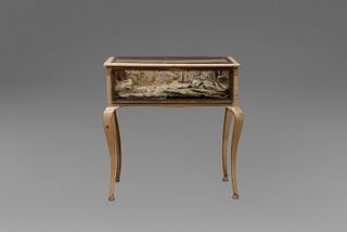 Display case in lacquered and painted wood, 18th century