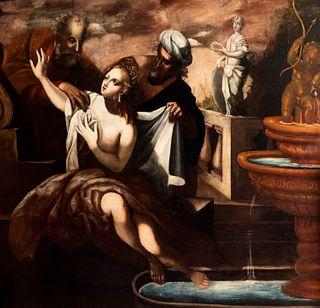 Scuola italiana, secolo XVII - Susanna and the Elders