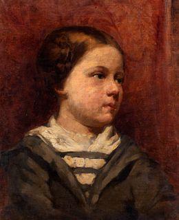 Scuola italiana fine XIX - inizi XX secolo - Portrait of a little girl