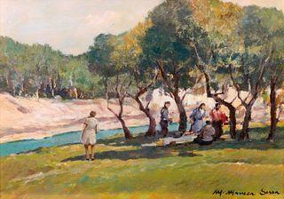 Mario Maresca Serra (Napoli 1912-1990)  - Lot of three paintings
