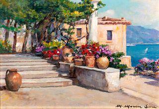Mario Maresca Serra (Napoli 1912-1990)  - Pair of views of the Amalfi Coast
