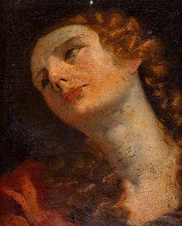 Scuola italiana, secolo XVII - Head of a Young Woman (Magdalene?)