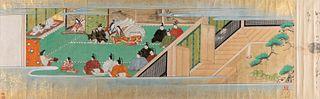 Scuola di Tosa, Giappone secolo XVIII - Scene of life in the palace