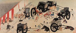 Scuola di Kanu, Giappone secoli XVIII - XIX - Scene of life in the palace