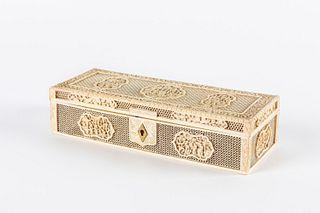 Ivory box, Canton early 20th century