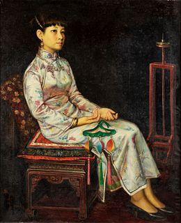 Chen Feng (Shenyang 1955)  - Woman in cheonsan, 1991