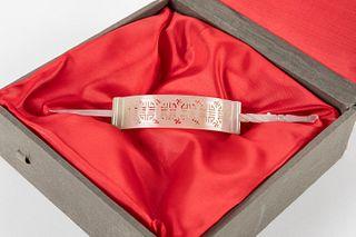 Jadeite hair clip, 20th century China
