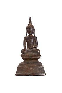 Ancient bronze Buddha statue, Thai