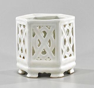 Korean Glazed Ceramic Brush Pot