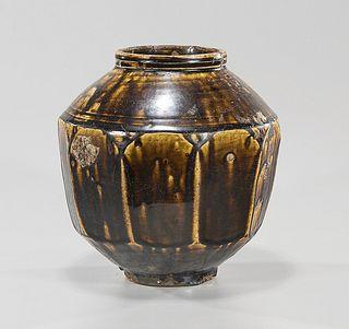 Korean Brown Glazed Storage Jar