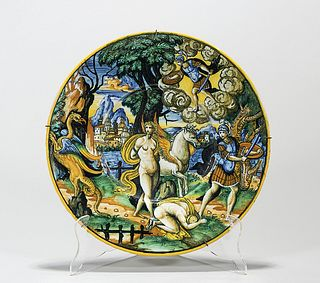 Antique Majolica-Style Plate