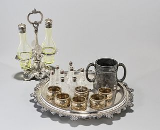 Group of 18 Vintage and Antique Silver Plate Items