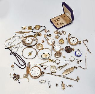 Group of Gold-Plated Jewelry Pieces