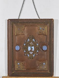 Two Antique Elaborate Book Covers