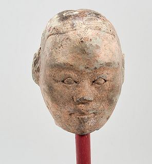 Chinese Han Dynasty Pottery Head