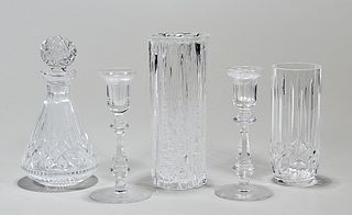 Group of Five Various Crystal Glass Pieces