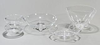 Group of Steuben Crystal Bowls